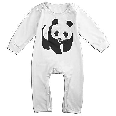 62876ea83 Amazon.com  Mrei-leo Toddler Baby Boy Girl Jumpsuit Pixel Panda ...