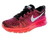 Nike Women's Flyknit Max Black/White/Pink Foil/Hot Lava Running Shoe 9 Women US