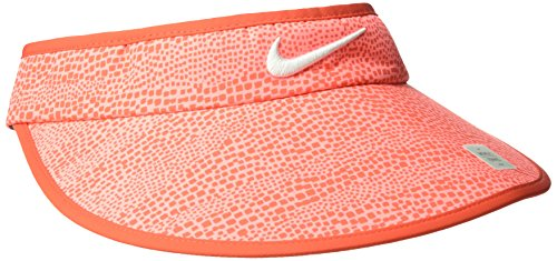 - NIKE Women's Big Bill Zebra Print Visor, Max Orange/Anthracite/White, One Size