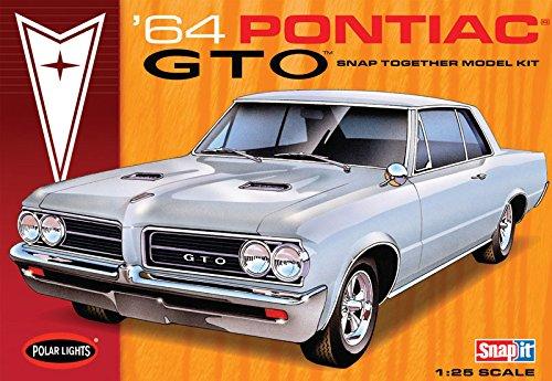 Glue Together Model Kit (Polar Lights 1964 Pontiac GTO Hardtop 1/25 Scale Snap Together Plastic Car Model Kit)