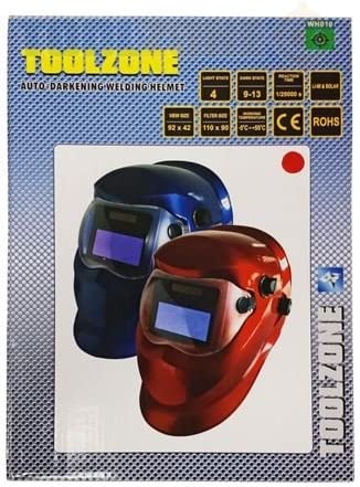 Toolzone Red Auto Darkening Welders Helmet WH010R