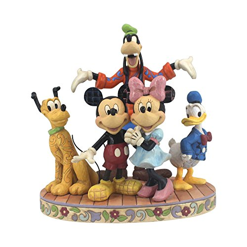 (Jim Shore Disney Traditions by Enesco Fab 5 Mickey, Minnie, Donald, Goofy and Pluto Figurine)