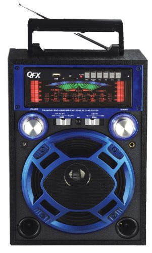 QFX CS-116BLUE Karaoke Multimedia Speaker - Blue