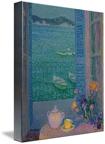 Wall Art Print entitled Henri Le Sidaner 1862-1939 BOUQUET TO THE WINDOW by Celestial Images | 8 x (1939 Bouquet)
