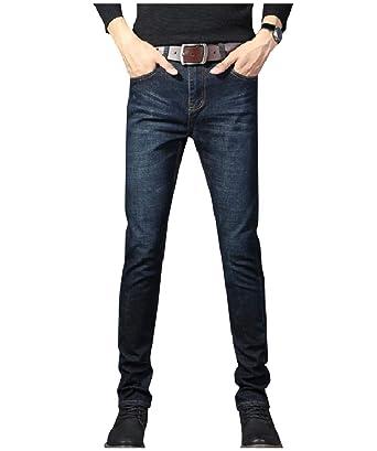 1a6ab70b04 WQ EnergyMen Men Big Tall Stretch Denim Pants Straight Leg Regular-Fit Jeans  39 Black