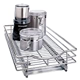 Lynk Professional Roll Out Cabinet Organizer - Pull Out Under Cabinet Sliding Shelf - 11 inch wide x 21 inch deep - Chrome