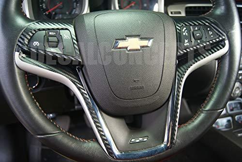 Camaro Carbon Fiber Full Steering Wheel Accent Decal kit cover (2012-2015)