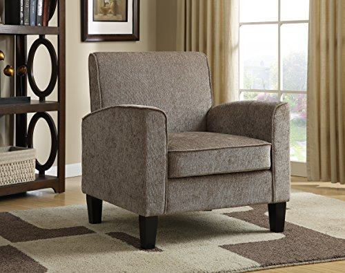 Pulaski mid century modern upholstered accent arm chair - Modern upholstered living room chairs ...