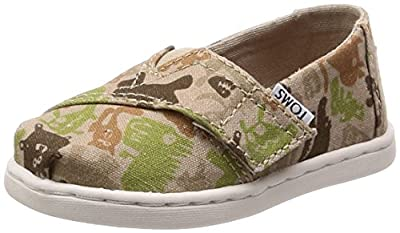 TOMS Kids Baby Boy's Alpargata (Infant/Toddler/Little Kid) Oxford Tan Creature Camo 10 M US Toddler