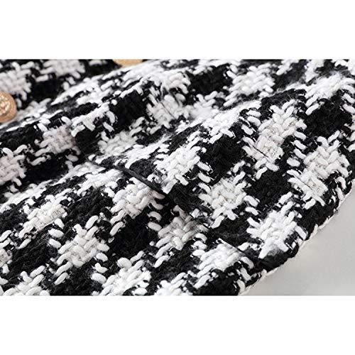 Botones Falda Runway Houndstooth Metal Fashion Diseñador Mini Onecolor León Adornado Tweed Mujer Faldas Y4qEwSxcHI