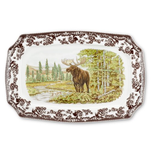 Spode Woodland Majestic Moose Rectangular Platter