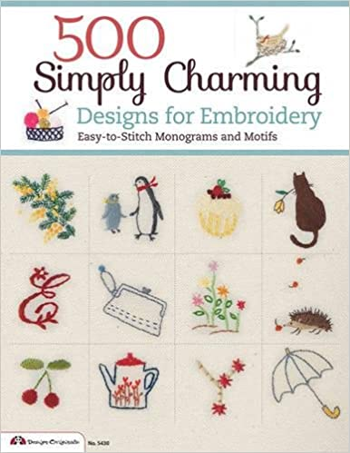 500 Simply Charming Designs For Embroidery Easy To Stitch Monograms