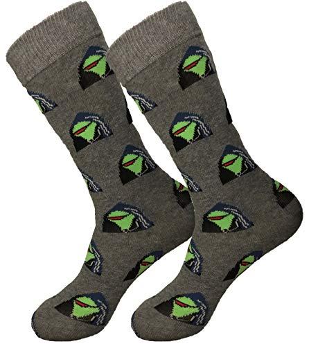 Balanced Co. Evil Kermit Meme Dress Socks Dark Kermit Funny Socks Kermit Crazy Socks Casual Socks (Dark Gray)