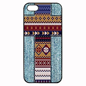 AZTEC JEANS CROSS Pattern Image Protective iphone 5S / iPhone 5 Case Cover Hard Plastic Case For iPhone 5 5S