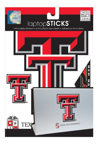 me & my BIG ideas laptopSTICKS Removable Laptop Stickers, Texas Tech Red Raiders