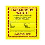 Box Packaging ''Hazardous Waste - Standard'' Labels, 6'' x 6'' 1- 500 rl/cs