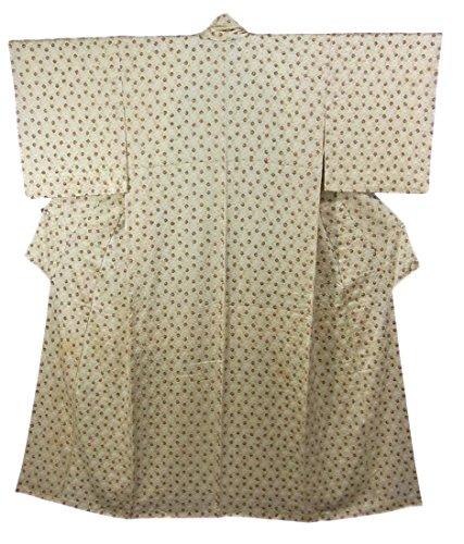 ベルト憂慮すべき堤防リサイクル 着物 小紋  絞り染め 正絹 袷 菱文様 裄62cm 身丈152cm