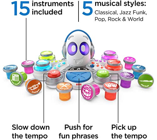 51IWeTp1ZAL - Fisher-Price Think & Learn Rocktopus, Musical Toy for Preschoolers, Multicolor