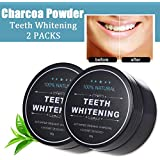Activated Charcoal Natural Teeth Whitening Powder | Efficient Alternative to Charcoal Toothpaste, Strips, Kits, Gels (2 Pack)