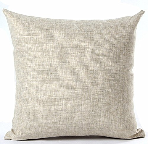 Linen Monogram Throw Pillow: Nordic Simple Hand-painted Flowers Bucks Antlers Home