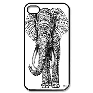 Best Quality [LILYALEX PHONE CASE] Vintage Elephant For Iphone 4 4SCASE-1