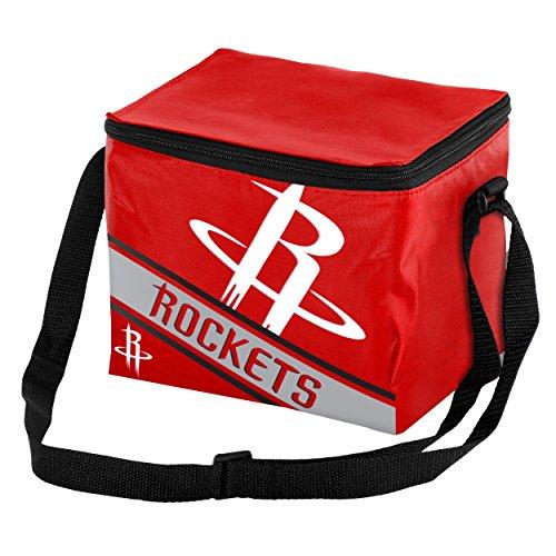 Houston Rockets Big Logo Stripe 6 Pack Cooler