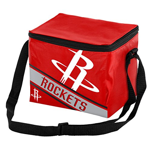 FOCO Houston Rockets Big Logo Stripe 6 Pack Cooler