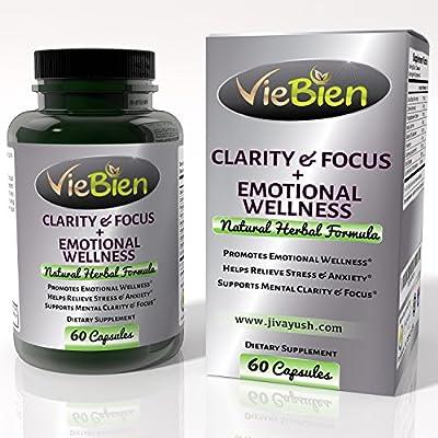 VieBien Natural Mental Clarity Focus Supplement & Emotional Wellness – Natural Stress Relief & Anxiety Supplement