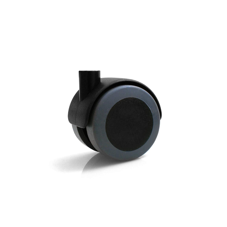 Design61 4 unidades Ruedas para muebles con soporte en U para placas de 22 mm de ancho