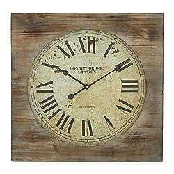 Aspire London Bridge Station Square Wall Clock, Brown