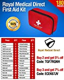 Royal-Medical-Direct-180-Piece-First-Aid-Kit-Hospital-Grade-Emergency-Medical-Supplies-for-Traveling-Hiking-Camping-Home-or-Auto-Portable-Lightweight-and-Travel-Ready