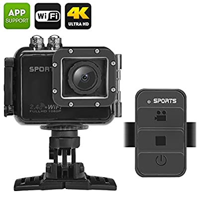 UHD 4K Wifi Caméra d'action–& # €â€¯; & # X153filtre; Powervisionâ & # €â€¯;–IP68étanche, grand angle de 120degré