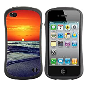 "Hypernova Slim Fit Dual Barniz Protector Caso Case Funda Para Apple iPhone 4 / iPhone 4S [Sunset Beautiful Nature 86""]"