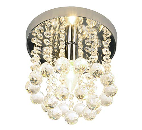 Mini Style 1-light Flush Mount Crystal Chandelier by Surpars House