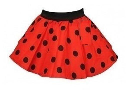 Crazy Chick Niñas Rojo con Puntos de Color Negro Diseño de lunares ...