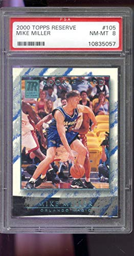 2000-01 2001 Topps Reserve #105 Mike Miller 134/999 ROOKIE NBA Graded Basketball Card MINT PSA 9 ()
