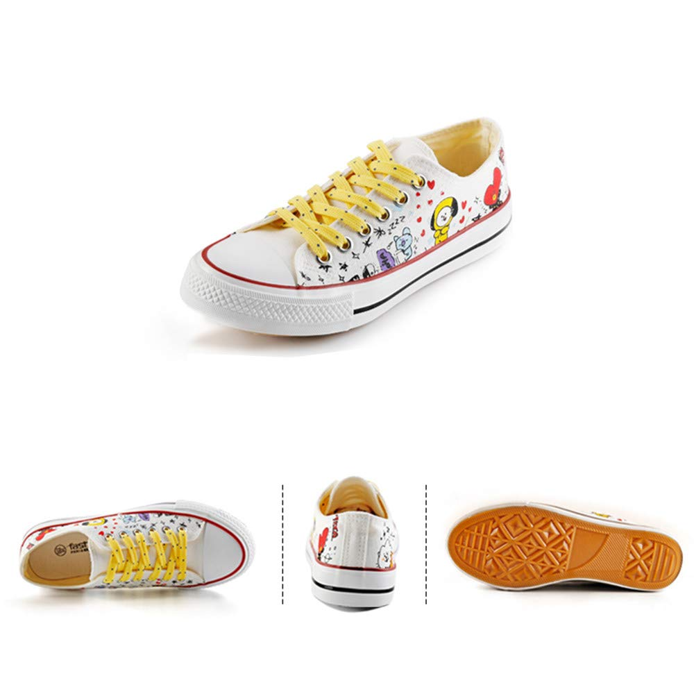 5aaa7575711b Unisex BTS Cozy Schnürung Beiläufige Schuhe Leinwand Schuhe ...