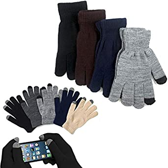 1 par Magic elástico guantes Smartphone pantalla táctil para ...