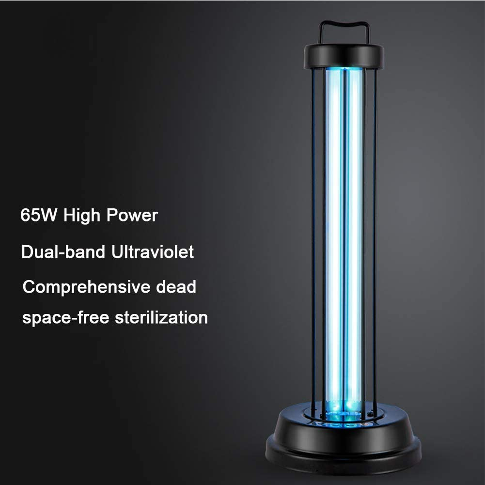 puerhki UV-Desinfektionslampe f/ür ultraviolettes Ozon 38 W Tragbare Sterilisationslampe f/ür zu Hause Desinfektionslampe f/ür die Desinfektion von Milben Remote Remote Delay Start