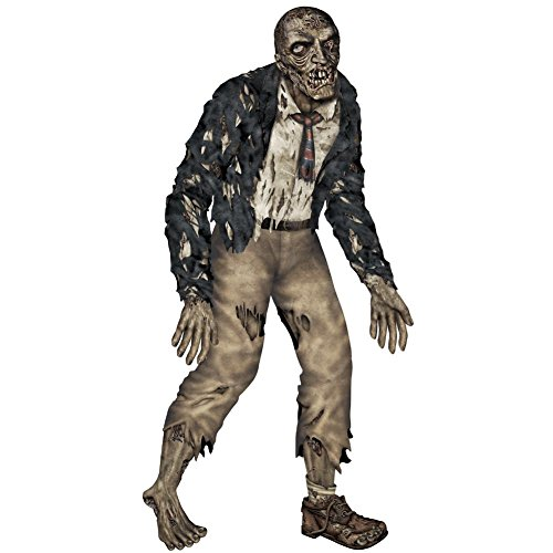 Life Size Halloween Figures (Beistle Jointed Zombie Figurine for Party, 6-Feet)