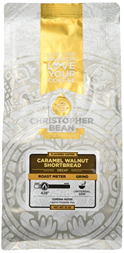 (Christopher Bean Coffee Flavored Caramel Walnut Shortbread Decaffeinated Ground coffee)