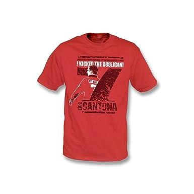 7a86e0ff Eric Cantona - I kicked the hooligan t-shirt: Amazon.co.uk: Sports &  Outdoors