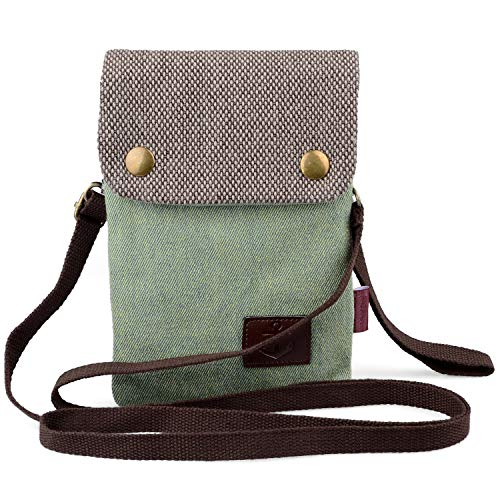 Katloo Women Mini Cute Crossbody Bag Wristlet Cellphone Wallet Purse Loose Change Pouch for 5.5