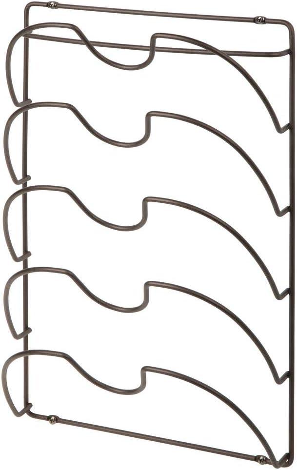 praktische K/üchenutensilien f/ür Topf- und Pfannendeckel mDesign 2er-Set vertikaler Topfdeckelhalter handliches K/üchenzubeh/ör aus Metall silberfarben