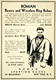 1936 Ad Roman Sporting Goods 280 Broadway NY BRO Boxer Wrestler Robes Clothing - Original Print Ad