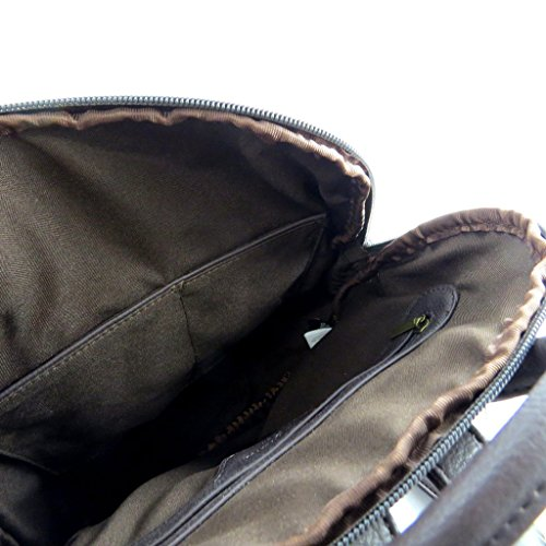 Mochila 'Pepe Jeans'marrón (38x30x10.5 cm).