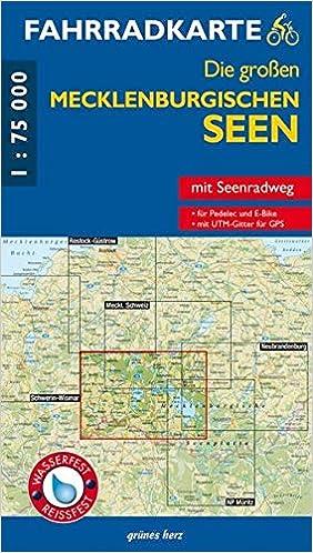 Radweg Mecklenburgische Seenplatte Karte.Fahrradkarte Die Großen Mecklenburgischen Seen Mit