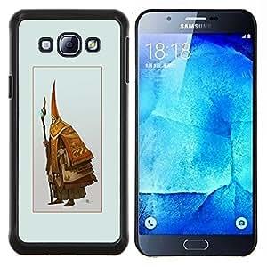 Qstar Arte & diseño plástico duro Fundas Cover Cubre Hard Case Cover para Samsung Galaxy A8 A8000 (Asistente Viejo)