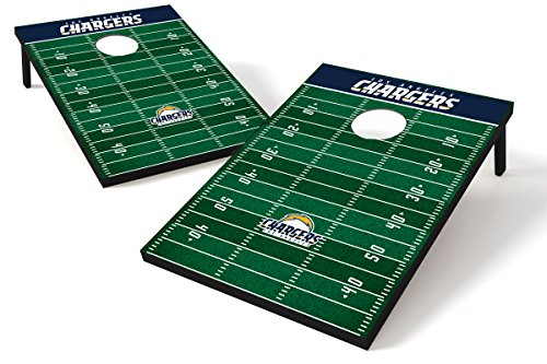 - Wild Sports NFL Los Angeles Chargers Cornhole Set
