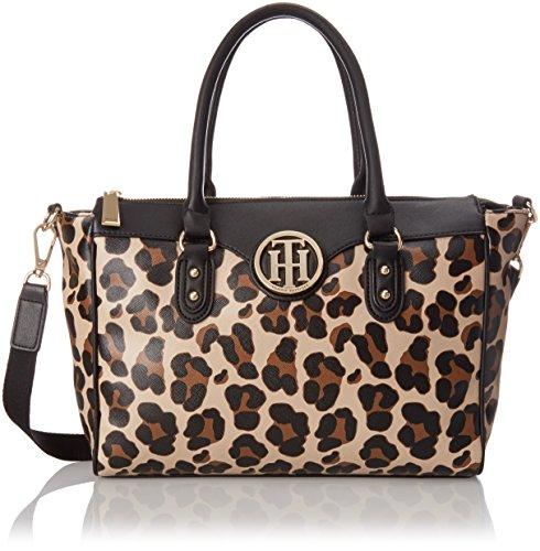 Tommy Hilfiger Leopard Shopper Shoulder Bag, Brown/Multi, One Size